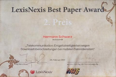 Lexis Nexis Auszeichnung Anwalt